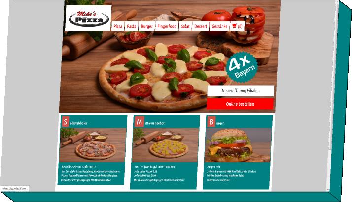 Onlineshop-Lösungen für Pizzaservice
